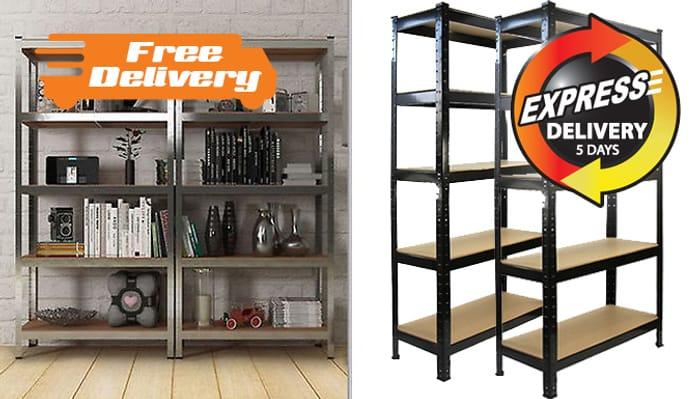 Tier Boltless Metal Storage Shelving Unit - 3 Colours