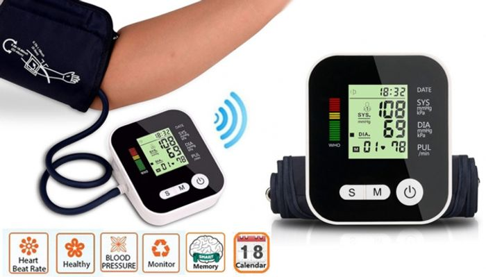 4-in-1 Blood Pressure Monitor with LCD Display + Voice Function