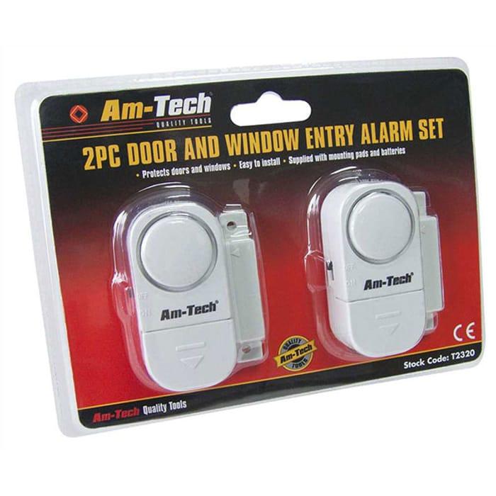 Am-Tec 2pc Window Entry and Door Alarm