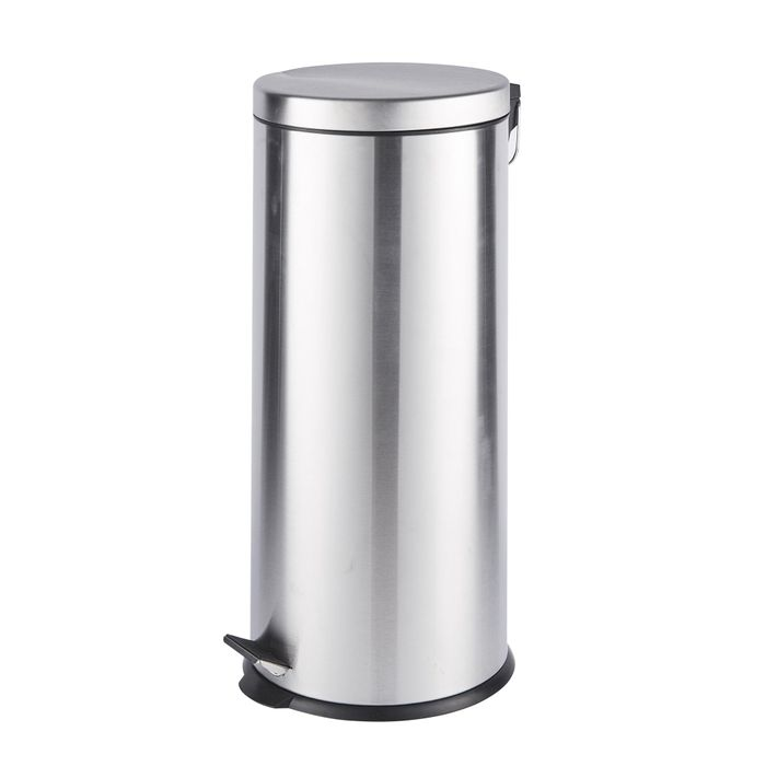 Cheap 30 Litre Brushed Steel Pedal Bin - Save £6!