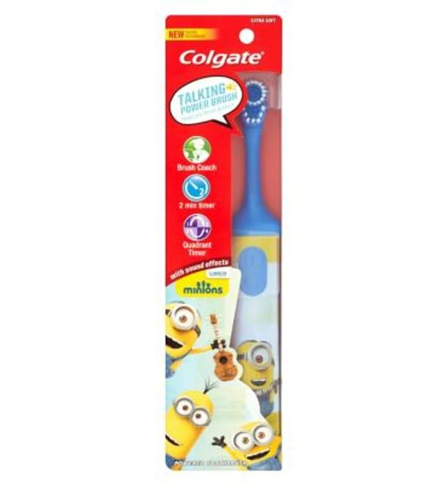 *HALF PRICE* Colgate Minions Talking Extra Soft Kids Battery Toothbrush