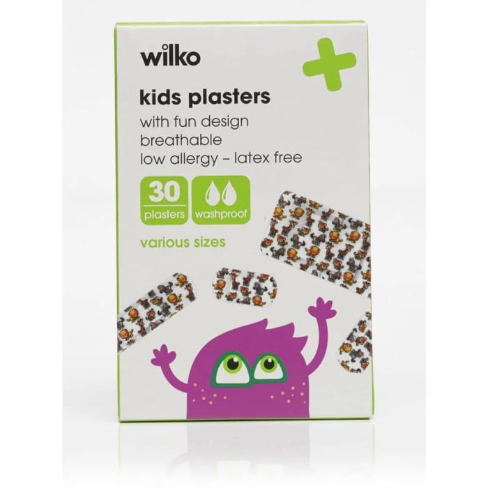 Cheap Wilko Kids Plasters 30 Pack at Wilko Only £0.8