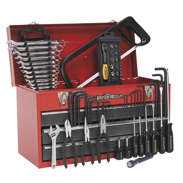 Sealey 93pc Tool Kit with 3 Drawer Tool Chest