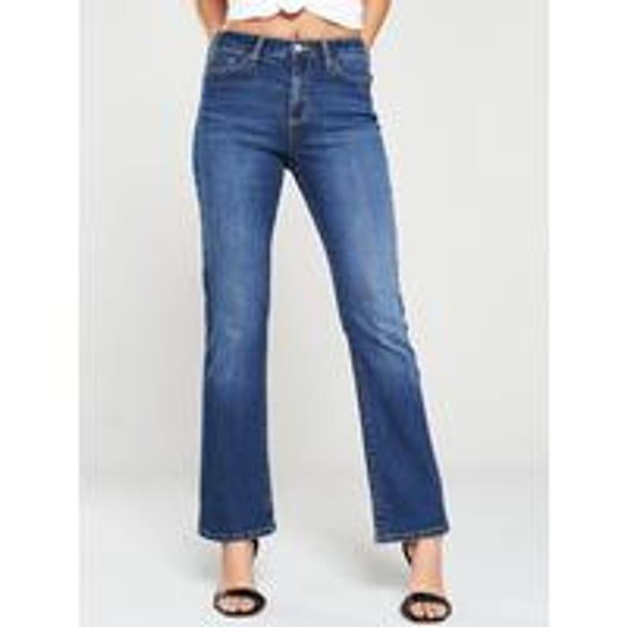 High Rise Boot Cut Jeans