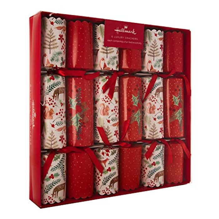 Hallmark Luxury Christmas Crackers - Pack of 6