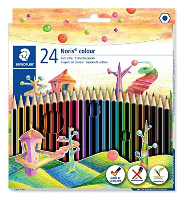 ALMOST 1/2 PRICE! 24 Staedtler Noris Colouring Pencils