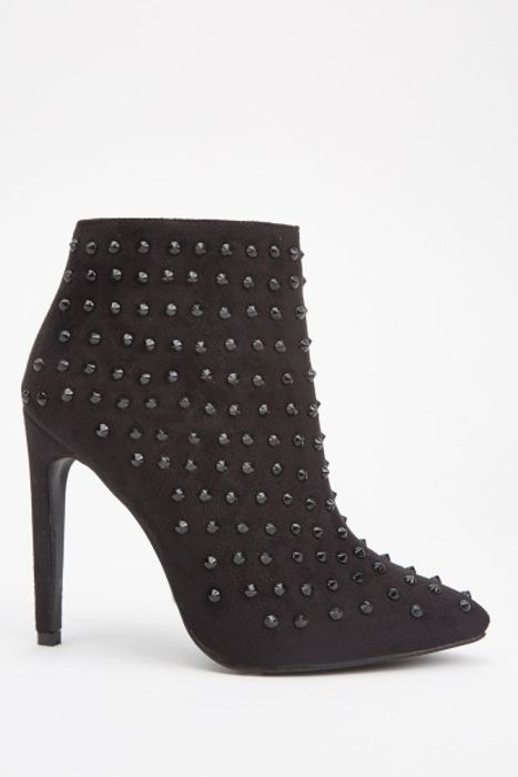Multi Studded Ankle Boots at Everything 5 Pounds - Only £5!