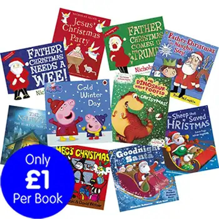 Christmas with Peppa Pig and Friends - 10 Kids Picture Books Bundle