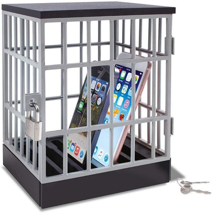Cheap Table Top Mobile Phone Jail Prison with Padlock Only £3.75 with Code
