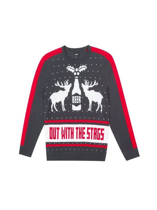 Stag Themed Christmas Jumper Was £20.00 Now £5.00