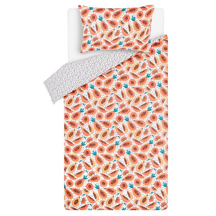 Cheap Papaya Easy Care Reversible Duvet Set - Only £7