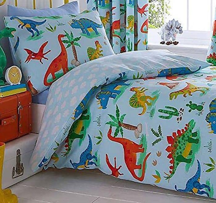 Kids Single Dinosaur Bed Set