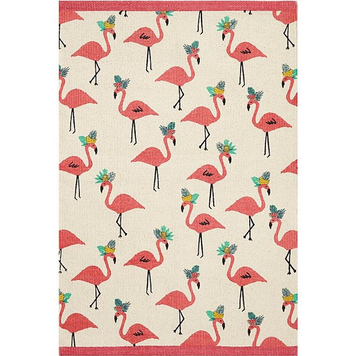 Flamingo Scatter Rug with Click & Collect