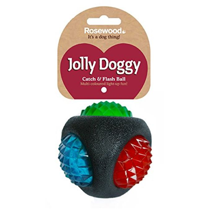 Rosewood Jolly Doggy Catch and Flash Ball for Dogs
