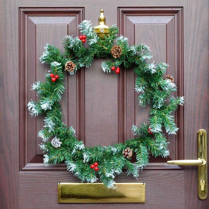 CHEAP Christmas Door Wreath