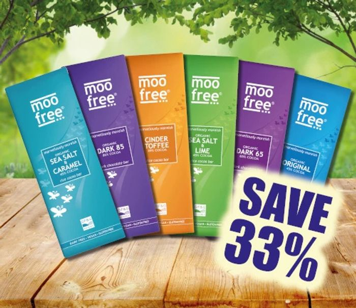 Save a Third on Moo Free Chocolate Bars Collection