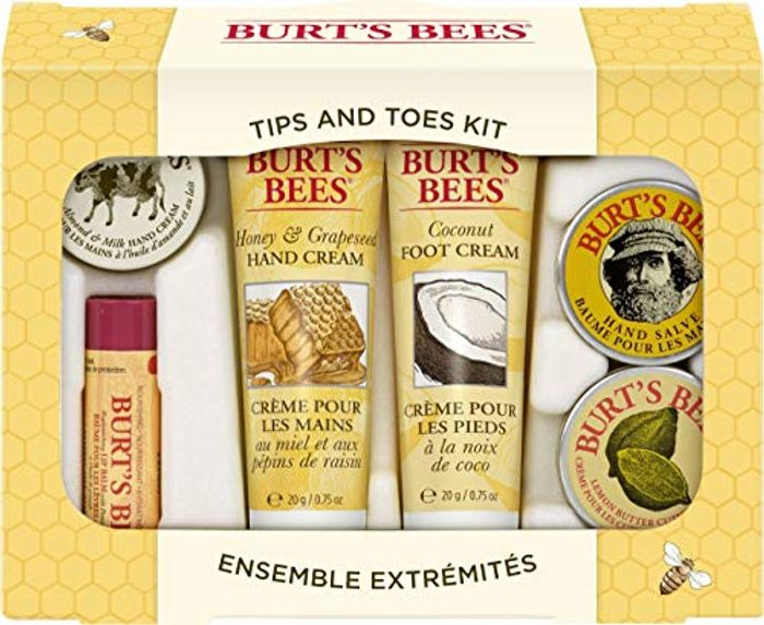 Burt's Bees Tips and Toes Natural Products in Gift Box with 2 Hand Creams