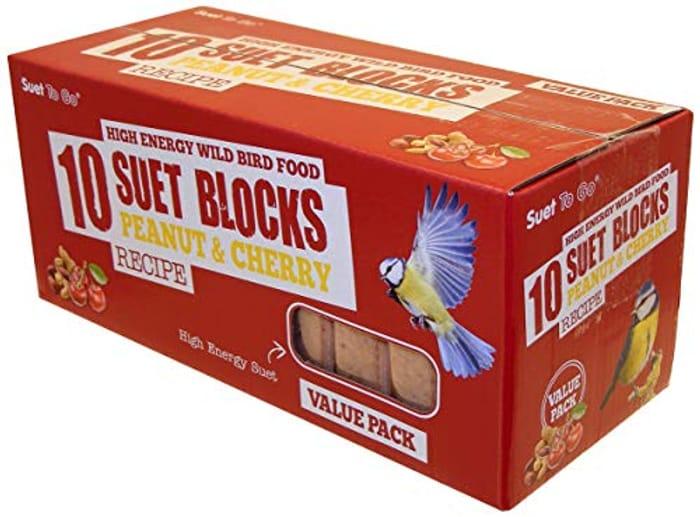 Best Ever Price! Suet to Go Peanut & Cherry Block Wild Bird X 10 (Add On Item)