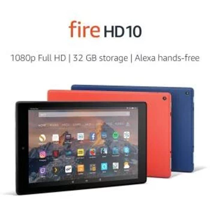 Fire HD 10 Tablet, 1080p Full HD Display, 32 GB, Black