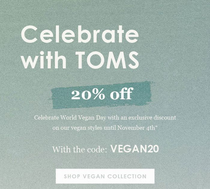 20% off on the Vegan Collection