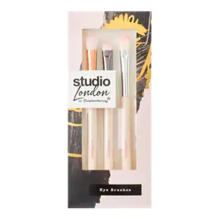 Superdrug Studio 3 Piece Eyeshadow Brush Set GET 3 for £6