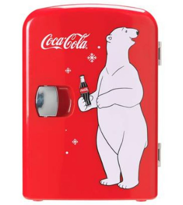 Cheap Coke Mini Fridge with Bear Only £35