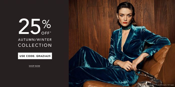 25% off Our Beautiful Autumn/Winter Collection