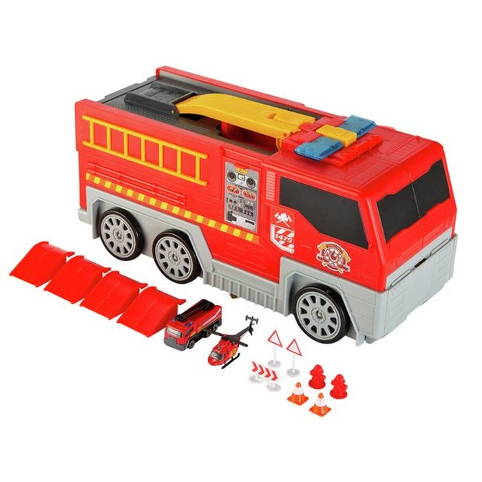 Cheap Chad Valley Folding Lights and Sounds Fire Truck Playset, reduced by £25!