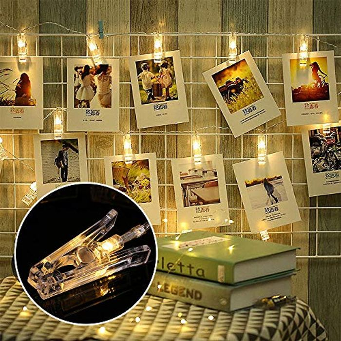 40 LED Hanging Photo Clip String - save 50%