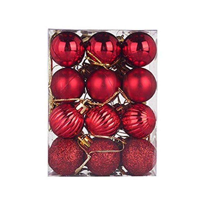 24pcs Christmas Baubles With Free Delivery