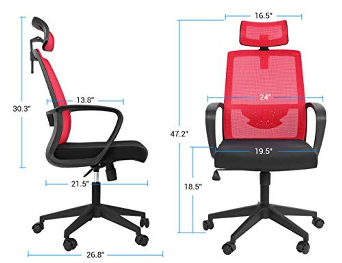 Lv. Life Office Chair (Red) Quick Sold out Last Night
