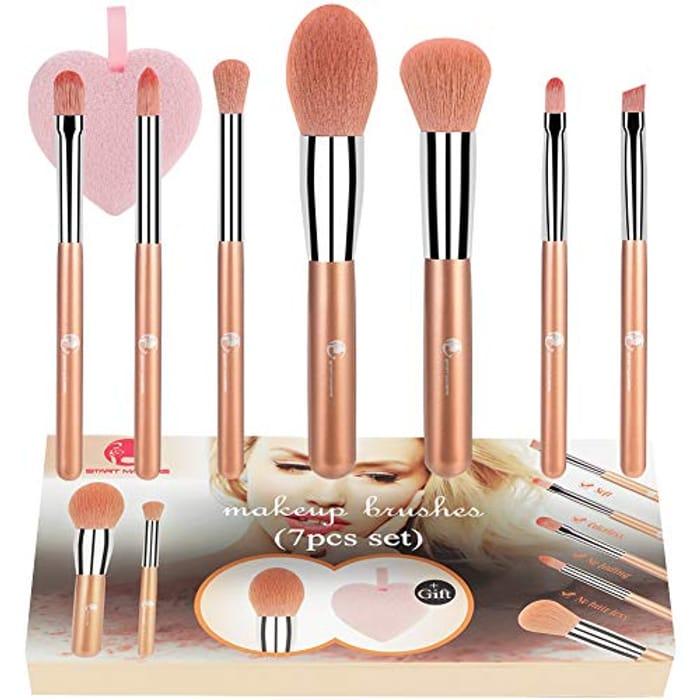 Cheap Makeup Brushes Set 7Pcs Professional at Amazon, Only £6.99!