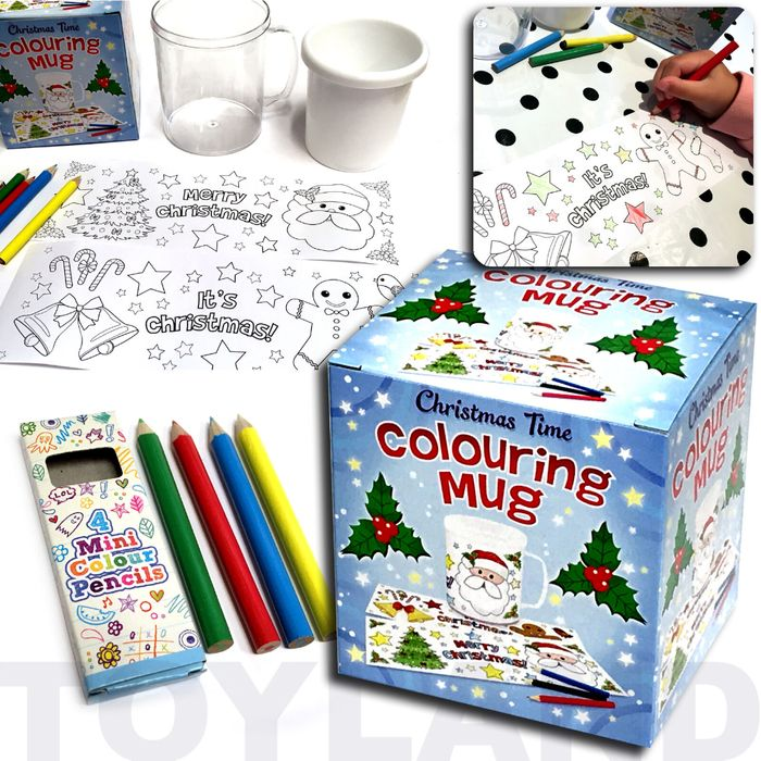Cheap CHRISTMAS TIME COLOURING MUG, reduced by £2.24!