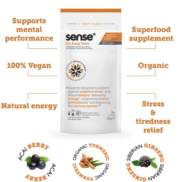 Sense Vegan Supplement Powder Sample.