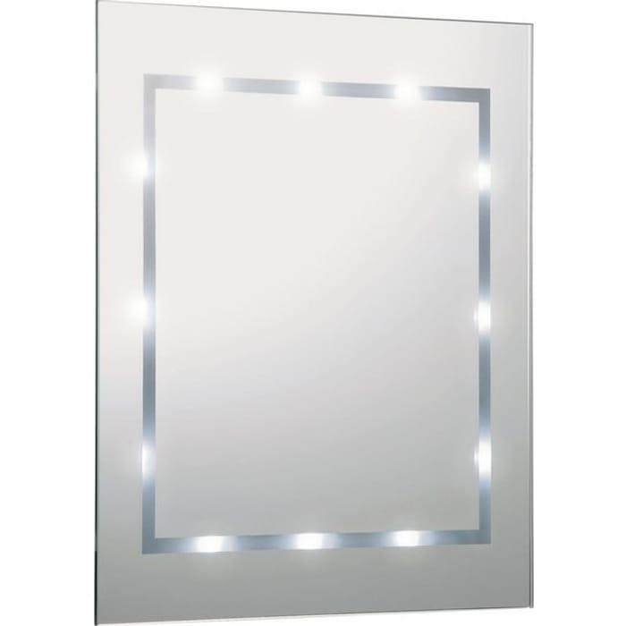Argos Home Illuminated Bathroom Mirror - White Gloss900/0104