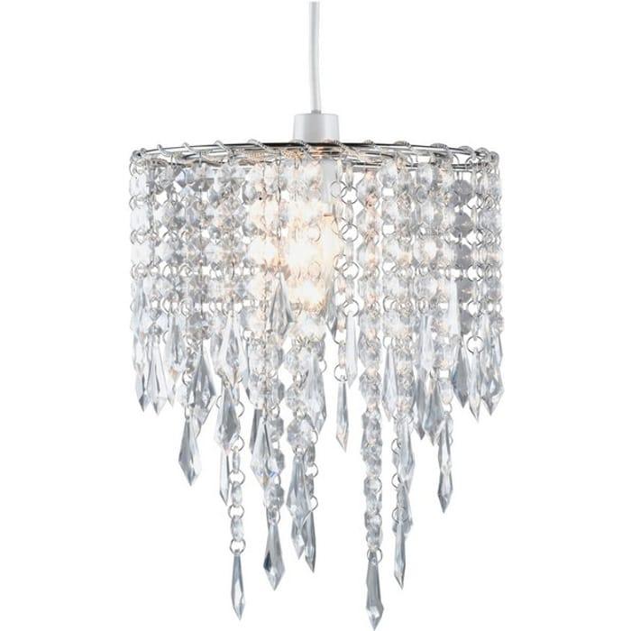 Argos Home Beaded Light Shade - Clear432/6522