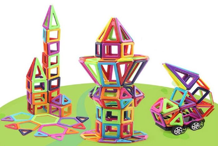 64pc or 95pc Magnetic Building Block Set - 2 Options!