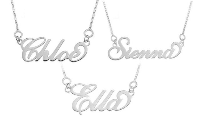 Personalised Sterling Silver Name Necklace