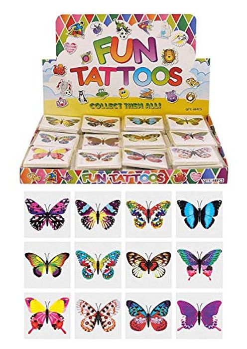 Cheap Kids Butterfly Temporary Tattoos at Amazon Only £1.00 with FREE DELIVERY