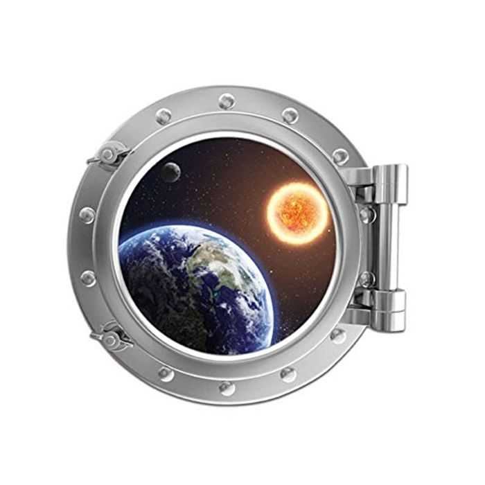 Cheap 3D 'Space' Removeable Wall Art, Vinyl Decal, Only £3.39!