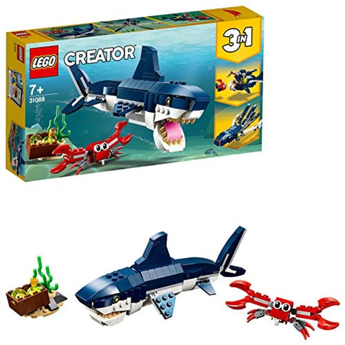 Best Price LEGO Creator 3in1 Deep Sea Creatures, Seaside Adventures Building Set
