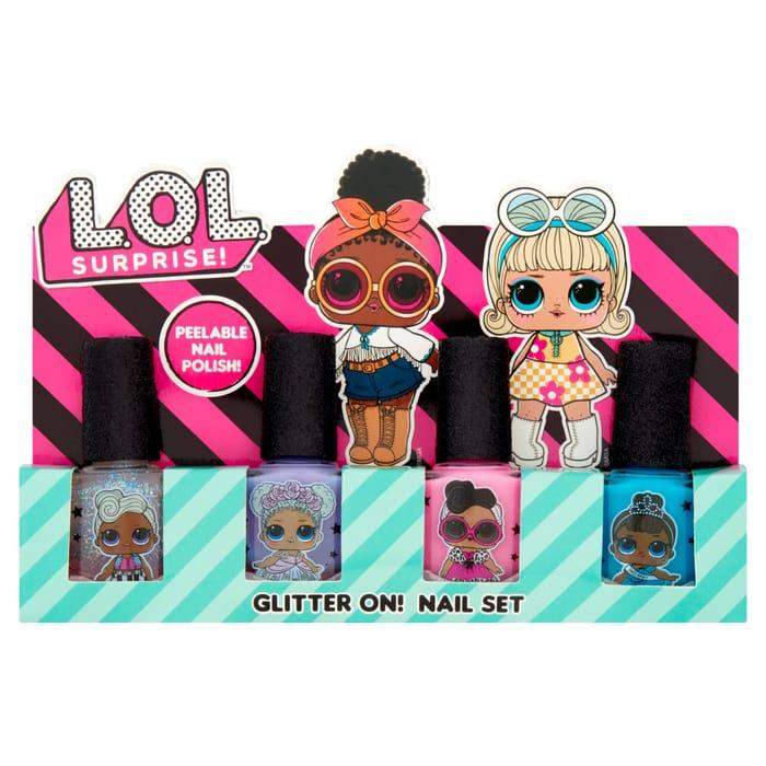 Lol Surprise! Glitter On! Nail Set 4X7ml HALF PRICE