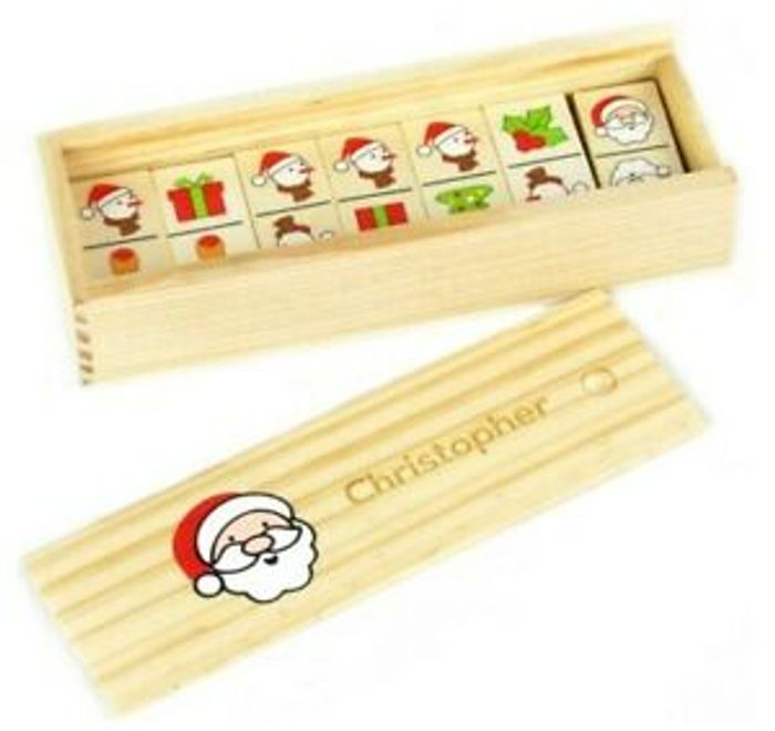 Children's PERSONALISED Christmas Dominoes - FREE Delivery