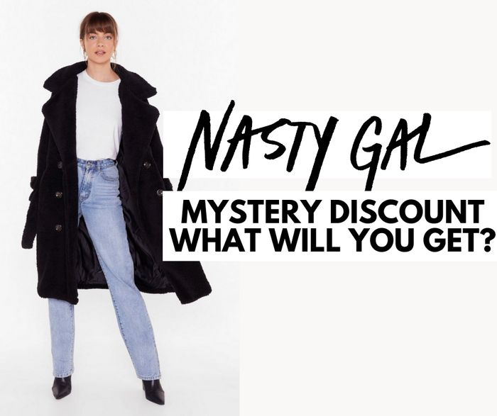Mystery Discount up to 55% off at Nasty Gal - What Will You Get?!