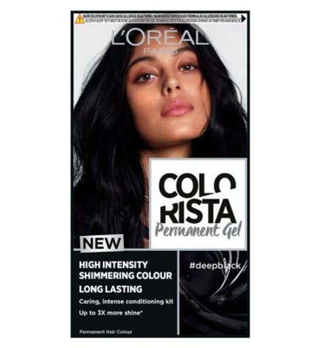 LOreal Colorista Deep Black Permanent Hair Dye