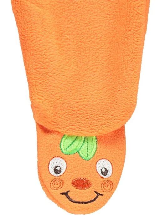 Cheap Orange Pumpkin Halloween All in One with Hat 3-6months - Save £3!