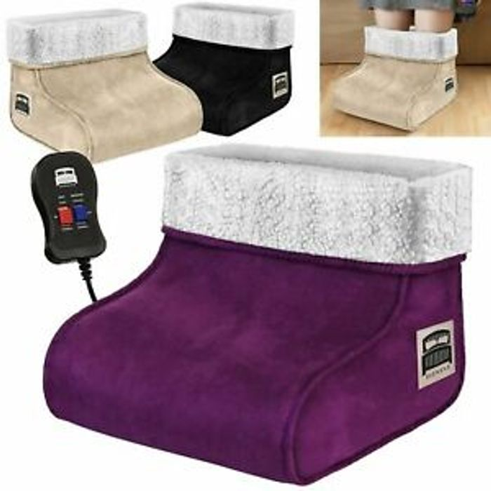 2 in 1 Heated Foot Warmer & Massager 3 Colours £9.99 Delivered