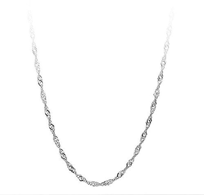 70% off 24 Inch 925 Sterling Silver Chain Necklace for Women