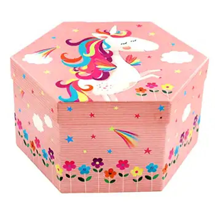 Cheap Unicorn 4 Tier Hexagon Art Box Only £5