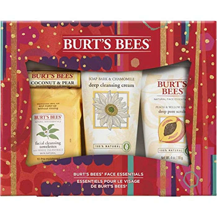 Burts Bees Face Essentials 4 Piece Moisturising Gift Set